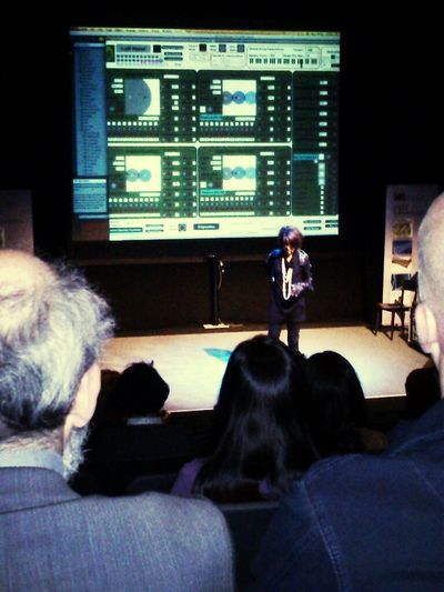 Explaining her live performance @ #digitrans