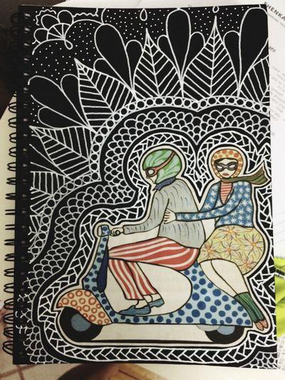 Decorated my Sketchbook