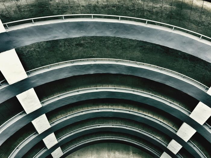High Angle View Architecture No People Day Pattern Built Structure Curve Outdoors Close-up Sunlight Steps And Staircases Spiral Geometric Shape Design Repetition Staircase Shape Railing Empty Nature HUAWEI Photo Award: After Dark