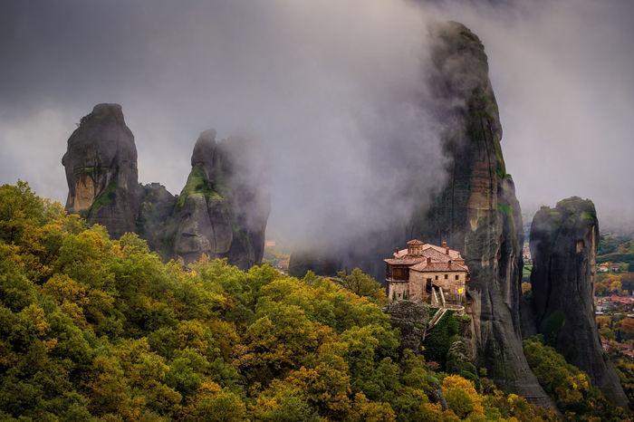 Automn Fog Greece Holiday Kalampáka Monastery Sony A7 Travel