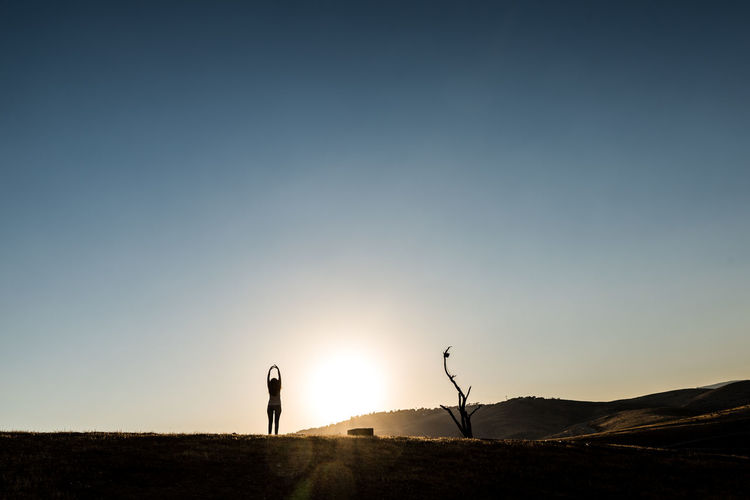 Adults Only Beauty In Nature Landscape Men Nature One Man Only One Person Only Men Outdoors Photographing Photography Themes Real People Scenics Silhouette Sky Standing Sunset Breathing Space The Week On EyeEm