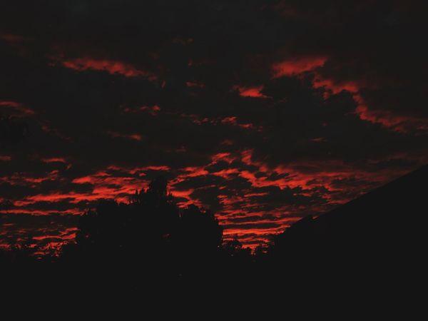 Welcome To Black Beauty In Nature Nature Sky Scenics Cloud - Sky Outdoors Sunset Orange Sky Darkart Dark
