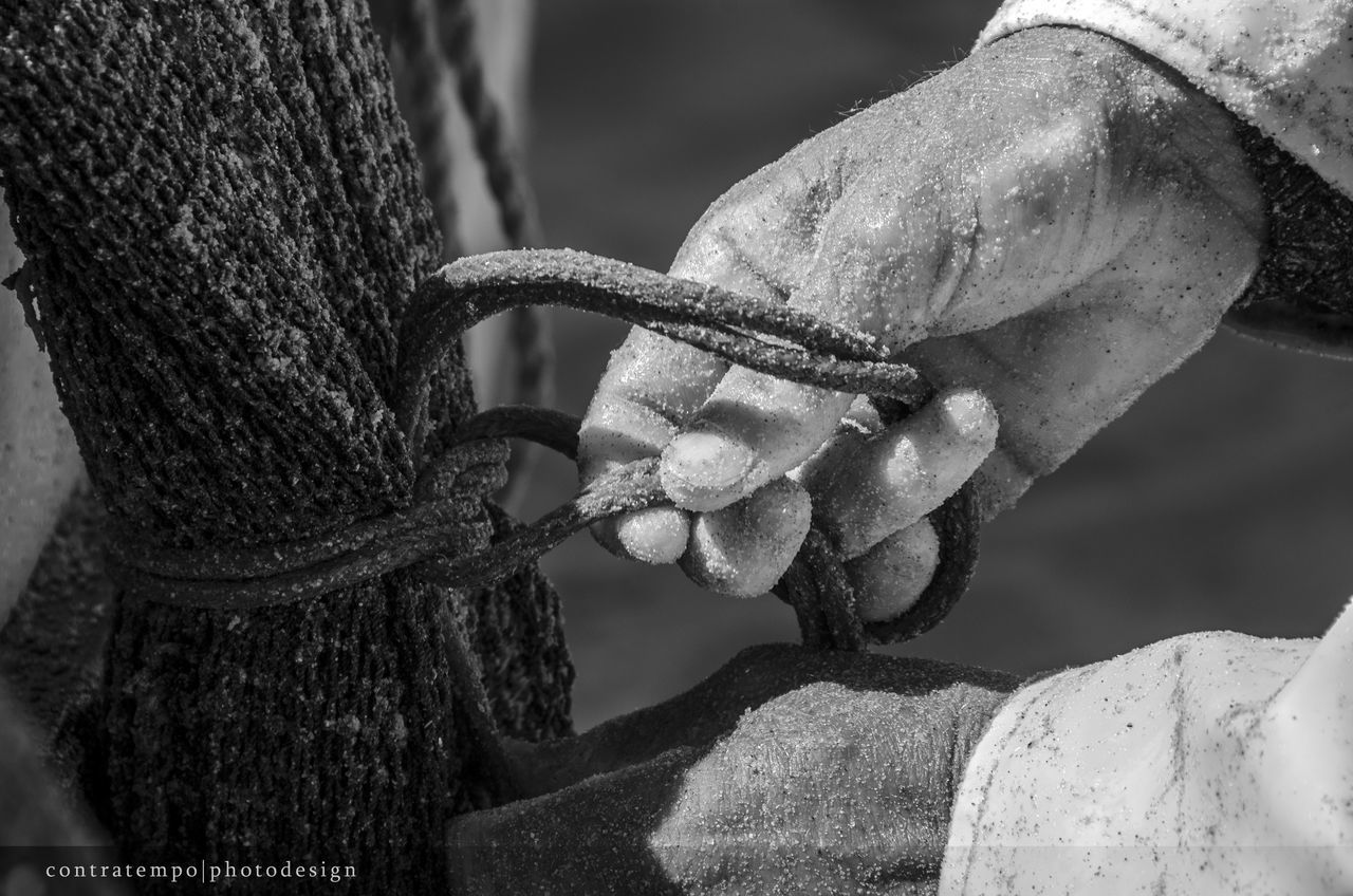 strength, rope, metal, close-up, outdoors, focus on foreground, day, no people, tied up, nature