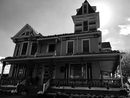 Building Exterior Architecture Built Structure Low Angle View Travel Pumpkin House Huntington, WV Spooky Celebration Halloween Outdoors Jack O Lantern Black & White Blackandwhite Autumn Pediment No People Day Pumpkin