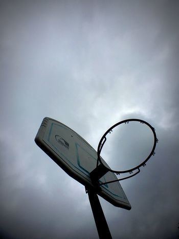 Basketball Hoop Low Angle View Cloud Abstract Different Points Of View IPhoneography Cloudy Cloudy Day Cloudy Sky Outdoors
