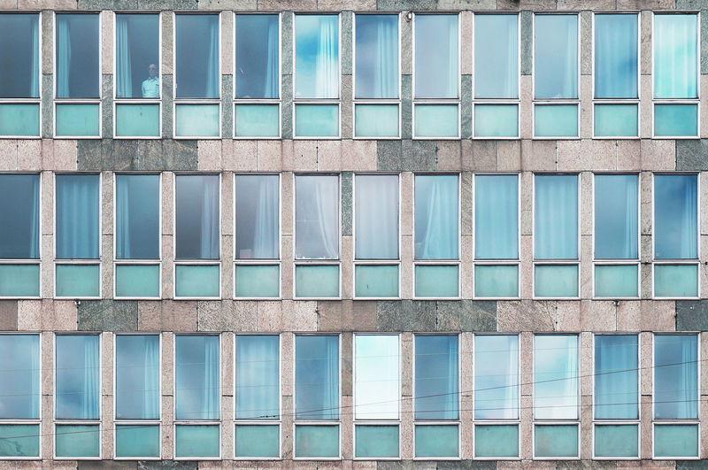 Full frame shot of office building