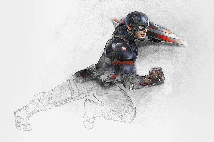 Captain America by Mike Smith Photomanipulation LIKE IT! Captainamerica Captain America Civil War Marvel Superheroes Marvelcomics Marvellegends AvengersAssemble