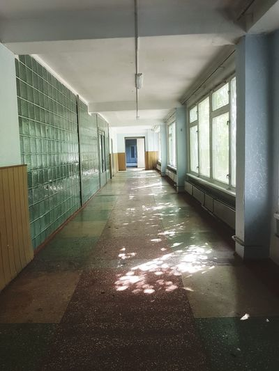 Corridor No People Built Structure Ukraine 💙💛 Citytrip School School In Ukraine Like A Lost Place Summertime Vacations