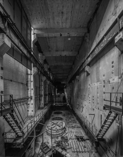 Inside unfinished nuclear reactor