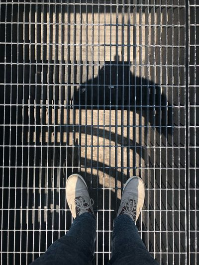 Keep me alive ⚜️ Low Section Human Leg Personal Perspective Human Body Part Body Part One Person Real People Shoe Grid Metal Grate Standing Grate High Angle View