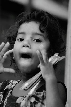 EyeEm Selects Blackandwhite Photography Child Childhood Close-up Rural Scene Playful Children Joyful