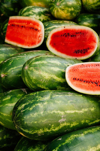 Farmers Market Latin America Melons Mexico Summertime Taste It Close-up Fresh Fruits Fruit Photography Green Fruit Melon Outdoor Photography Pile Refreshing Summer Summer Feeling Summer Fruit Sweet Tasty WaterMELONS Watermelon