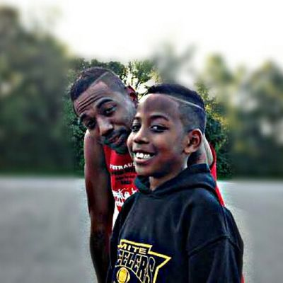 Me & lil cash fresh from the barbershop