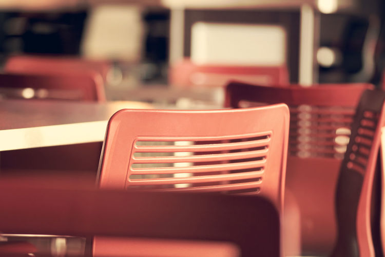 Chairs Bokeh Chairs Close-up Day Dof Empty Furniture Indoors  No People Restaurant Seat Selective Focus Table