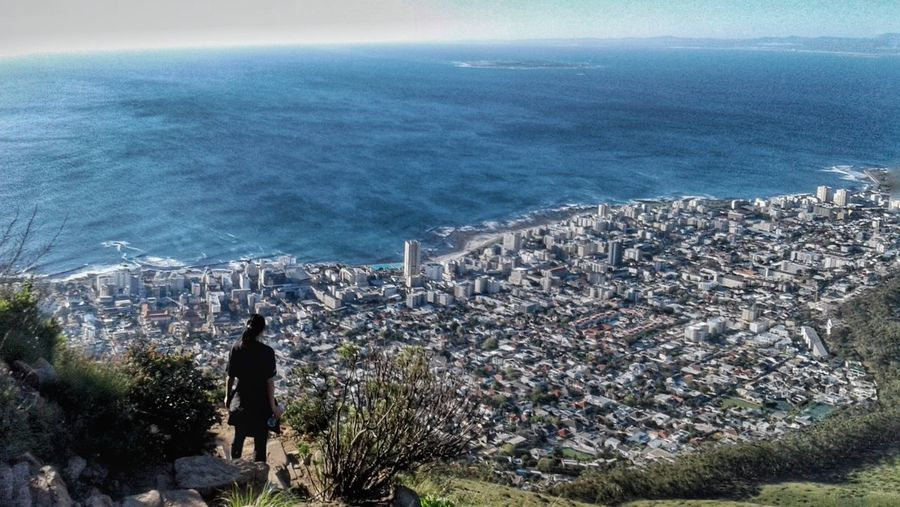Greater heights, Greater perspective. High Angle View Beauty In Nature Sea Cityscape Outdoors Lions Head Sea And City View Coastal Cities South Africa Heights Traveler Ocean Views
