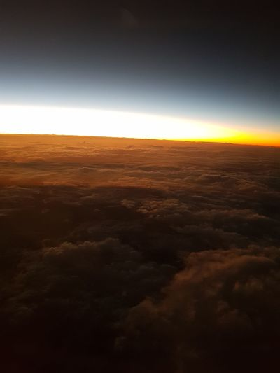 Nature Landscape Aerial View Sky Sunset Travel Destinations Airplane Night Beauty In Nature Tranquility Nuages Avion Beauty In Nature United States États-Unis Cloud - Sky