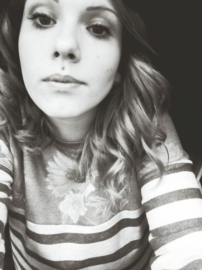 """Insane inside""Self Portrait Piercing Street Fashion Black And White"