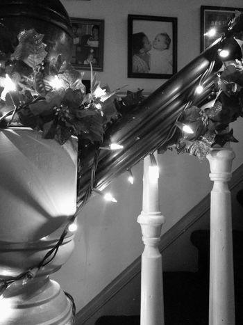 Christmas Decorations Staircase Banister Christmas Lights