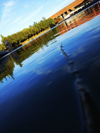 Water Reflection Outdoors No People Sky Building Exterior Nature China. Sunlight University Campus Architecture Reflection Low Angle View