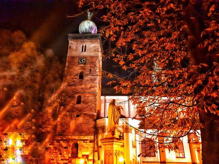 Church Old Building  Beautiful No People Religion Architecture Night Dark Autumn🍁🍁🍁 Orange Konsti