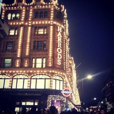 Christmas shopping today Christmas Harrods Knightsbridge London