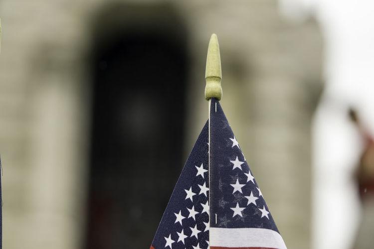 Memorial Day Patriotism Celebration Close-up Decoration Flag Focus On Foreground Remember Selective Focus