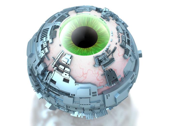 Digital composite image of camera