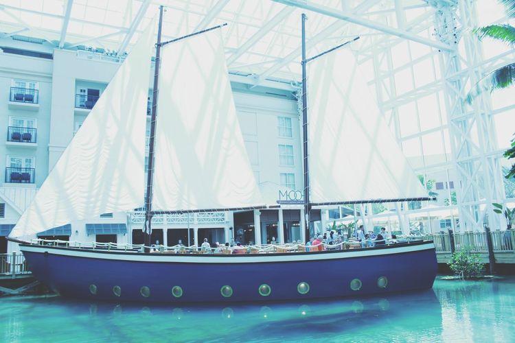 April,2018 Orlando FL Brazilian Scrapbook 2018 Gaylord Palms Resort Lovethisplace Blue Water Pirata Ship Water Modern