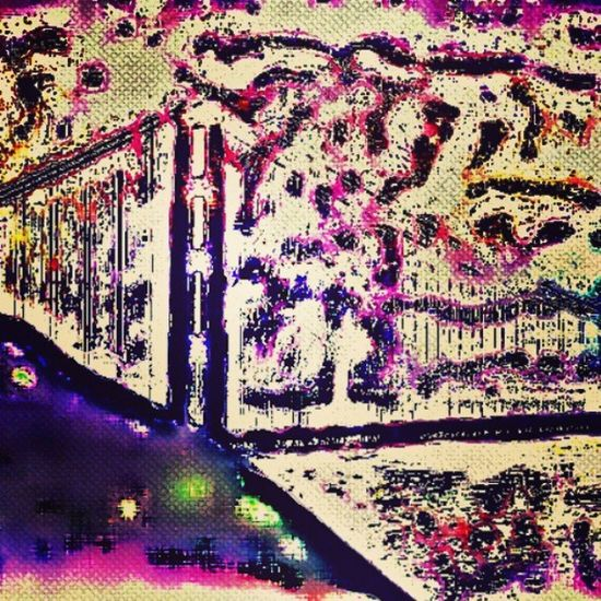 Always guard the bridge to your heart...and never let the unworthy worry you on your journey through this one life we live! :) Instacolorful Instaabstract Instasky Bridge Abstractart Artsy Journey Instamelted Colorful Edited PixlrExpress Express Imagination Takechances Riskfailure