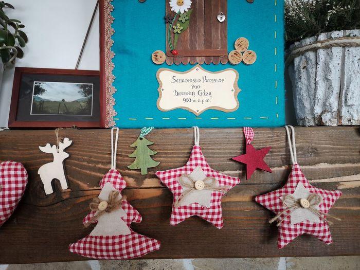 Christmas decorations on wall