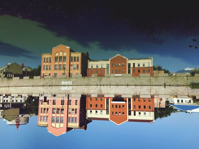 Upside down Upside Down Building Exterior Sky Built Structure Architecture Water Nature Building Reflection Blue Lake Outdoors Waterfront