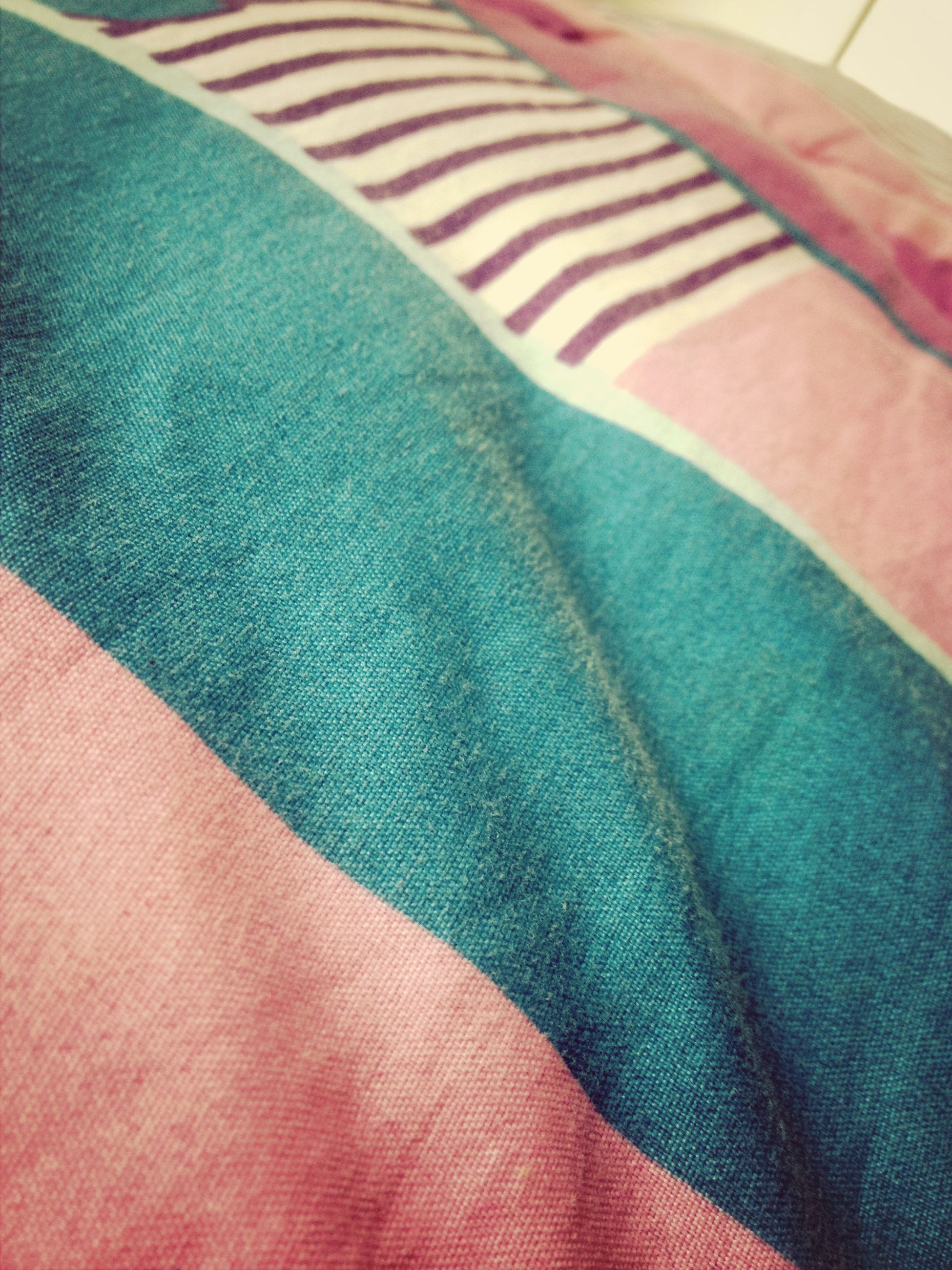 textile, fabric, indoors, close-up, pattern, full frame, multi colored, backgrounds, textured, material, still life, part of, design, detail, high angle view, no people, blue, striped, red, clothing