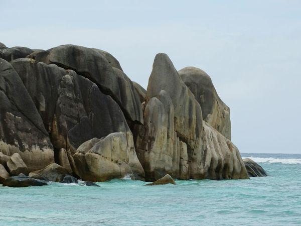 Sea Rock - Object Beach Nature Travel Destinations Cliff Sand Beauty In Nature Scenics Landscape Beauty No People Outdoors Day Water Sky Seychelles La Digue Seychelles Islands Tropical Paradise Indian Ocean Island Tranquility Rock Formation Rocks In Water