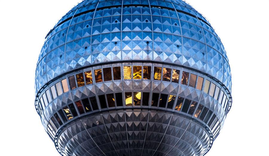 Close-up of berliner fernsehturm against sky