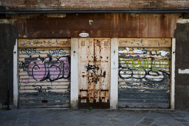 Graffiti on old building