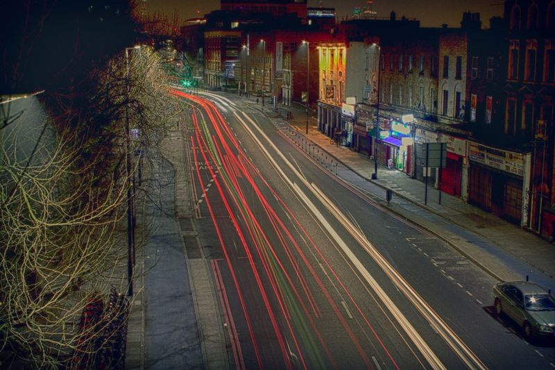 Midnight Night Long Exposure City Illuminated No People Architecture Outdoors London Cars Photography