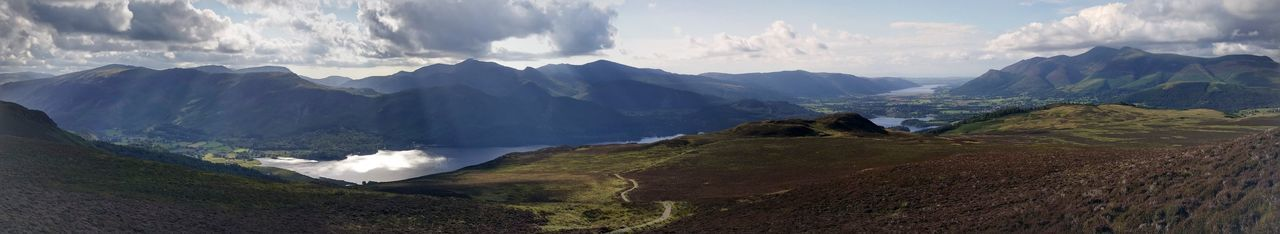 Mountain Panoramic Landscape Lake District Derwent Water Beauty In Nature Scenics Beauty In Nature Cloud - Sky Outdoors Day