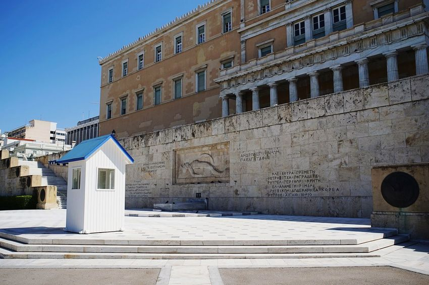 Built Structure Building Exterior History Been There. Clear Sky Street Photography EyeEm Gallery Travel Destinations EyeEm Best Shots GREECE ♥♥ Greece Athens Athens Tomb Of The Unknown Soldier Historical Monuments Historical Place