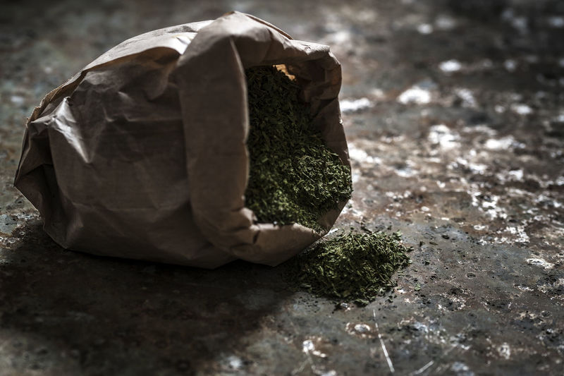 Dried mint in a paper bag Dried Plant Ingredints Mint Nature No People Oriental Spice Taste