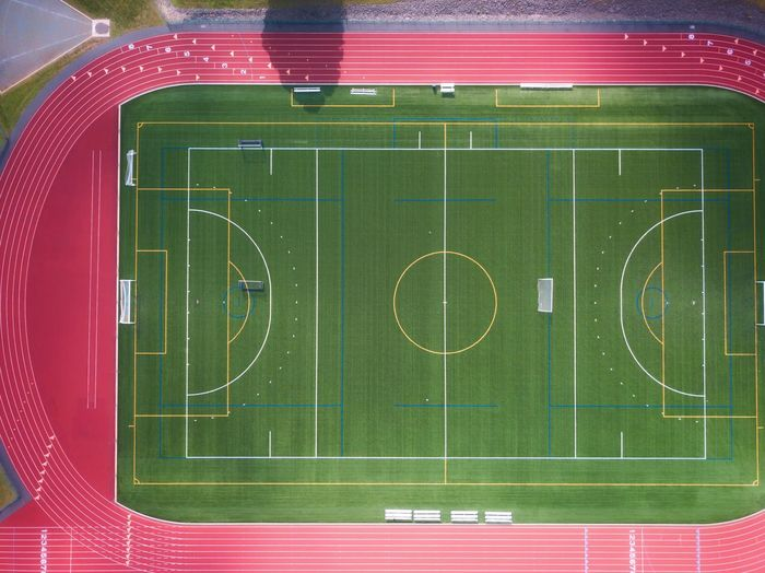 Dronephotography Sport Team Sport Playing Field Soccer Green Color Soccer Field No People