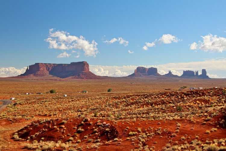Beautiful monument valley Environment Landscape Scenics - Nature Sky Tranquil Scene Beauty In Nature Cloud - Sky Land Tranquility Non-urban Scene Nature No People Mountain Day Rock Remote Desert Geology Idyllic Travel Destinations Outdoors Climate Arid Climate Eroded