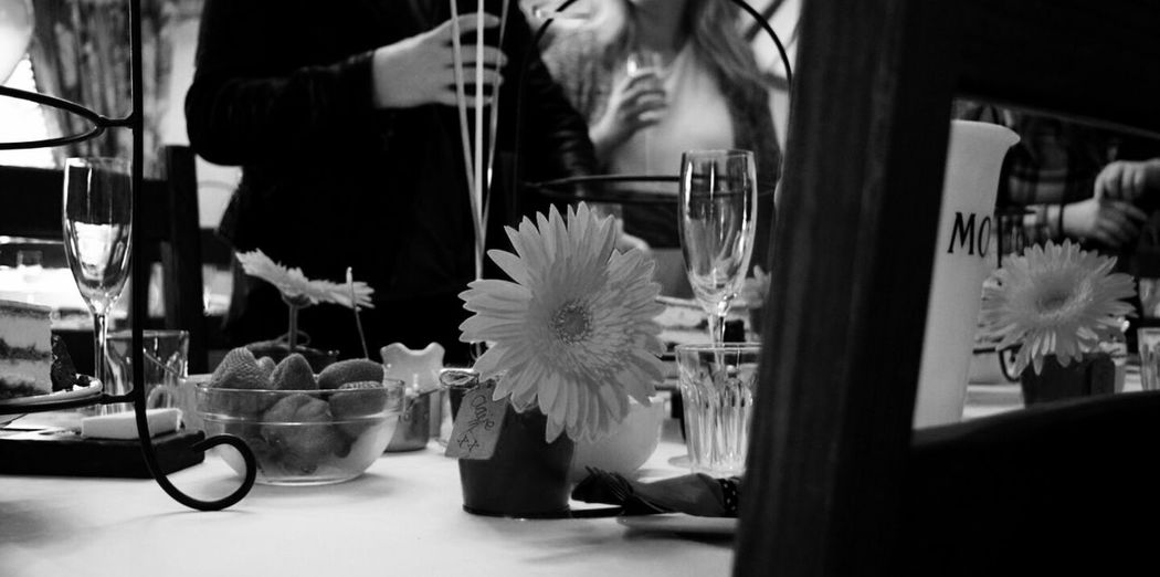 Shades Of Grey Afternoon Tea Restaurant Monochrome Black & White Place Setting Get Together Soirée Flower