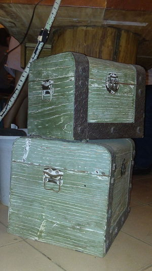 Treasure! Old Laidback Country Design Treasure Box Old Items Property Indoors  Wood - Material Close-up