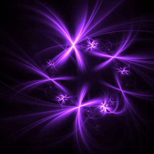 Abstract purple design against black background