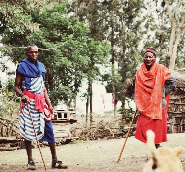 Guard and protect throuhh my generation Two People Adults Only Only Men My Year My View Kenya Africa Maasai Maasaiwarrior Maasai Land Tanzania Maasai Shuka