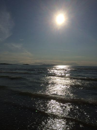 Waves Sky Sea Water Sun Beauty In Nature Scenics - Nature Horizon Over Water
