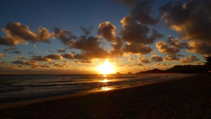 Sunrise on October 23rd Atmosphere Atmospheric Mood Cloud Cloud - Sky Cloudscape Cloudy Dramatic Sky Kailua Oahu Kailua! Kailua, Hawai'i Kalama Light Majestic Moody Sky Orange Color Outdoors Rabbett Robert Abbett Silhouette Sky Storm Cloud Sun Sunrise Tranquil Scene Tranquility