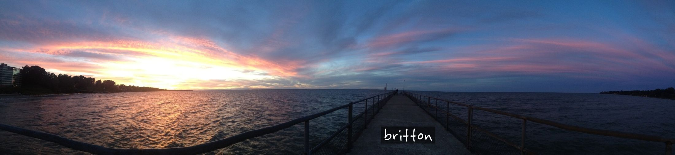 9/8/13, 7:57pm - Panoramic view of Lake Erie at Sunset Skyporn Sky_collection