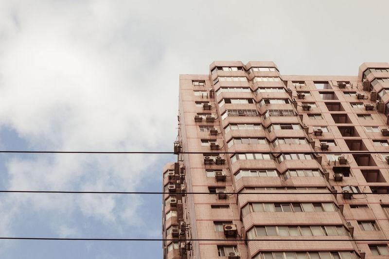 Architecture City Cityscape Flats Shanghai Skyline China Development Public Housing Windows