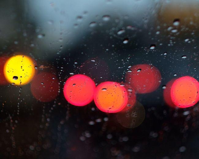 Lights Colors Raining View From The Window... Driving Bokeh Bokeh Photography Bokeh Lights